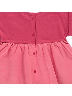 Baby girls' short-sleeved dress CIHOROB4 / 18SG09E4ROB404