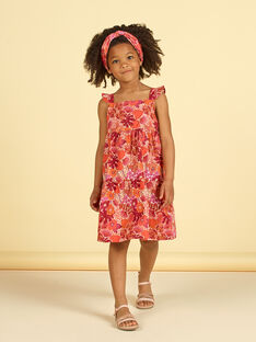 Abito arancione e rosa con stampa a fiori LATEROB1 / 21S901V3ROB001