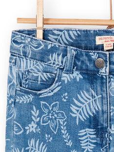 Jeans blu stampa a fiori LANAUJEAN / 21S901P1JEAP274