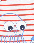 Body corredo bambino a maniche corte stampa piovra LEGABODPIE / 21SH1426BDL000