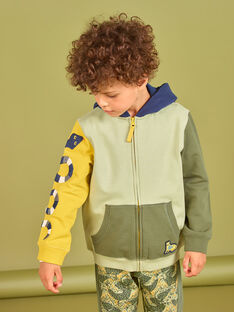 Felpa con cappuccio color block bambino MOKAGIL / 21W902I1GIL612