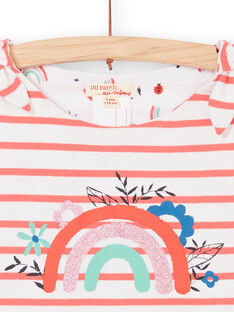 Canottiera double face bianca e arancione LAVIDEB / 21S901U1DEB000