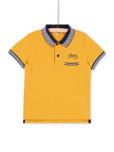Polo gialla e navy - Bambino LOJAUPOL / 21S902O1POL107