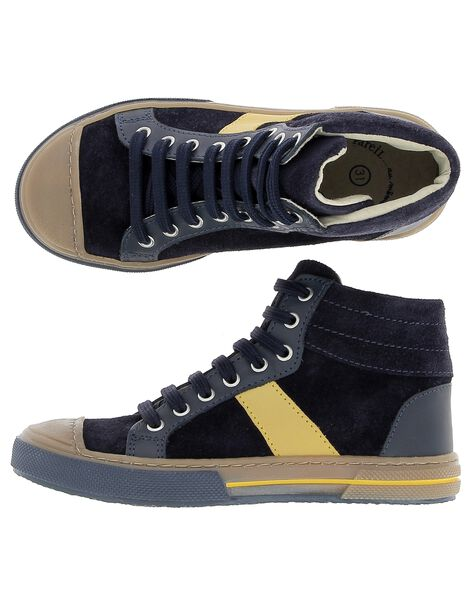 Boys' leather city trainers DGBASART / 18WK36T7D3F070