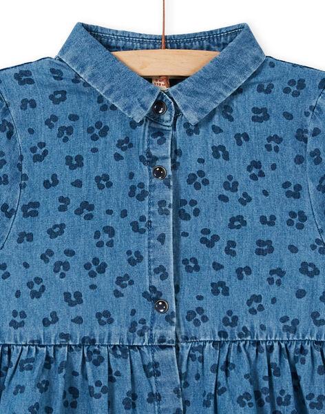 Abito in jeans con stampa leopardo in cotone LABLEROB1 / 21S901J2ROBP274
