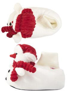 Babbucce peluche pupazzo di neve bambino GGBOOTNEIG / 19WK36Z2PTD000
