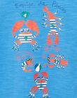 T-shirt bambino maniche corte blu con granchi JOCEATI3 / 20S902N6TMC201