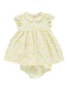 Baby girls' dress and bloomers CIPIROB1 / 18SG09I3ROB099