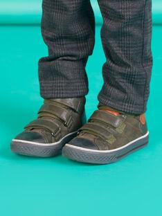 Sneakers alte scamosciate verdi kaki bambino MOBASTRIVKAKI / 21XK3673D3F604
