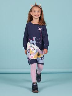 Abito maniche lunghe motivo unicorno fantasia bambina MAPLAROB1 / 21W901O2ROBC202