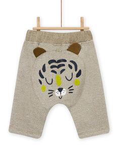 Pantaloni verdi kaki con motivo animale neonato MUKAPAN1 / 21WG10I2PAN604