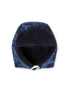Colbacco blu notte con stampa spazio neonato MYUPLACHA / 21WI1064BONC243