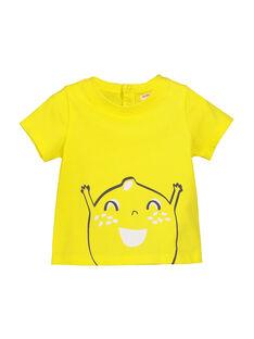 T-Shirt Maniche Corte Gialla FUJOTI1 / 19SG1031TMC102