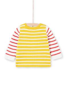 Cardigan a righe giallo neonato LUNOGIL / 21SG10L1GIL106