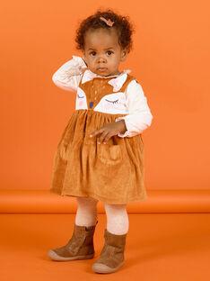 Abito senza maniche motivo cerbiatto in soft boa neonata MISAUROB2 / 21WG09P2ROB809