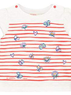T-shirt maniche corte con stampa neonata FITOTI2 / 19SG09L2TMC000