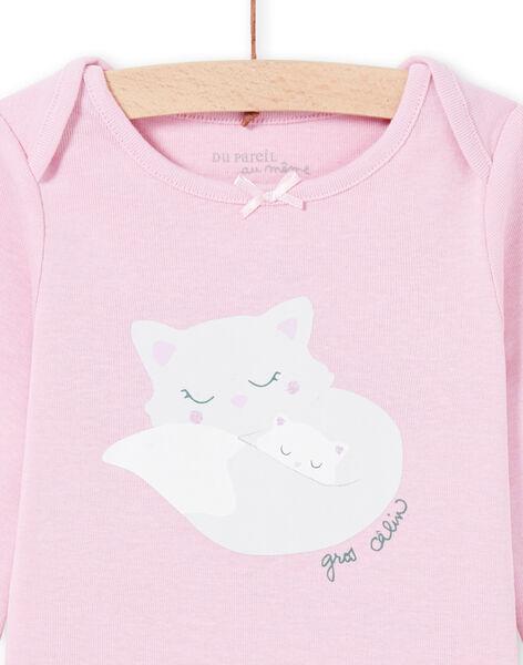 Body maniche lunghe glicine con motivi gatti neonata MEFIBODMAM / 21WH13B5BDLH702