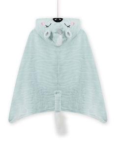 Mantella celeste con motivo zebra-unicorno bambina MEFACAPZEB / 21WH1191CPE219