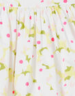 Abito senza maniche bianco e verde stampa a fiori LAJAUROB1 / 21S901O4ROB000