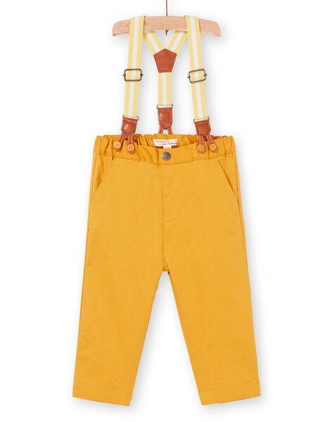 Pantaloni gialli e bretelle a righe neonato LUBALPAN / 21SG10O1PAN117