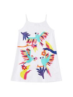 Camicia da notte con spalline bambina bianca JEFACHU1 / 20SH11U2CHN000