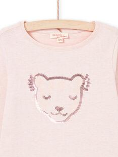 T-shirt rosa bambina MAJOYTEE2 / 21W90114TMLD314