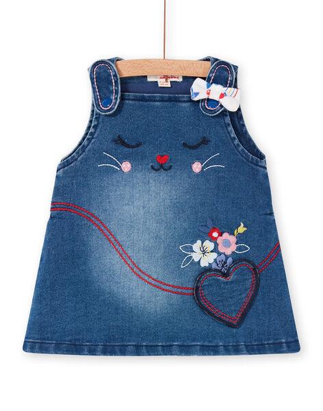 Abito salopette in jeans blu neonata LIHAROB2 / 21SG09X3ROBP270
