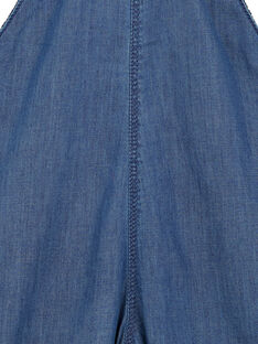 Salopette lunga in denim leggero neonato GUVIOSAL / 19WG10R1SALP274