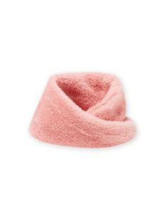 Scaldacollo rosa in finta pelliccia bambina MYASAUSNOO2 / 21WI0163SNO303