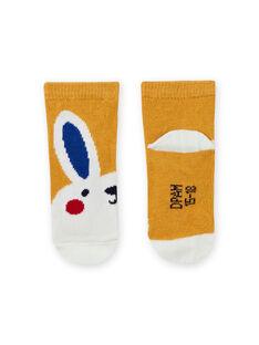 Calze gialle motivo coniglio neonato MYUMIXCHO1 / 21WI10J2SOQ117