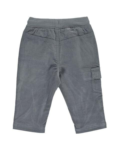Baby boys' grey velour trousers DUJOPAN9 / 18WG10J3PAN929