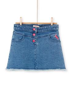 Gonna corta in jeans blu e rosa LANAUJUP1 / 21S901P1JUPP274