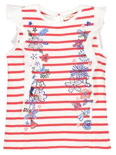 T-shirt maniche con volant bambina FATOTI1 / 19S901L2TMC099