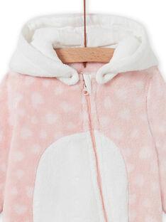 Tutina sacco nanna rosa con cappuccio motivo volpe neonata MEFISURPYJRE / 21WH1391SPYD329