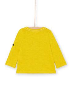 T-shirt gialla neonato LUJOTUN3 / 21SG1036TML106