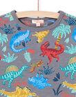 T-shirt grigio melange con stampa dinosauro bambino MOPATI3 / 21W902H1TMCJ913