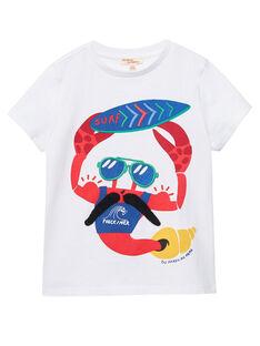 T-shirt bambino maniche corte bianca astice JOCEATI4 / 20S902N3TMC000