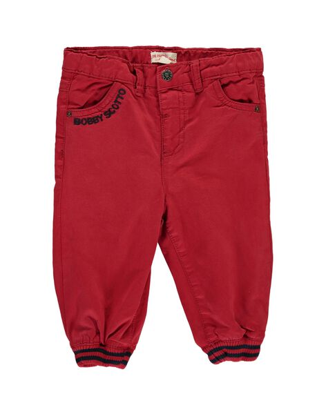 Baby boys' red trousers DUTRIPAN2 / 18WG10D2PAN510