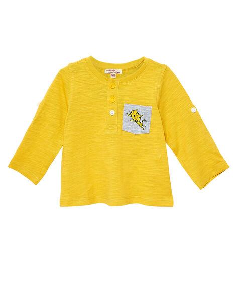 T-Shirt Maniche Lunghe Gialla JUJOTUN5 / 20SG1042TMLB114