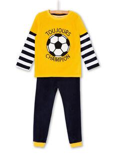Pigiama t-shirt e pantaloni gialli e blu scuro bambino LEGOPYJFOO / 21SH125DPYJB107