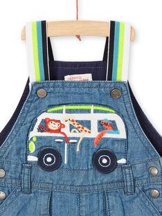 Salopette corta in jeans neonato LUBONSAC / 21SG10W1SACP272