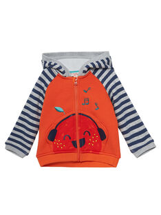 Cardigan con cappuccio morbido all'interno neonato JUVIGIL / 20SG10D1GILE400