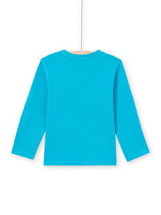 T-shirt turchese bambino MOJOTUN3 / 21W90211TMLC211