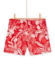 Costume shorts rosso bambino LYOMERBOXJUN / 21SI02D9MAI050