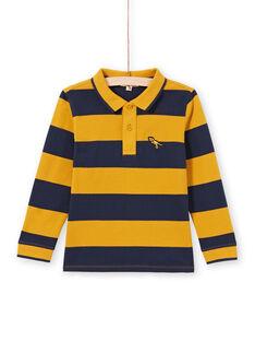 Polo gialla e navy a righe bambino MOJOPOL5 / 21W90213POL113