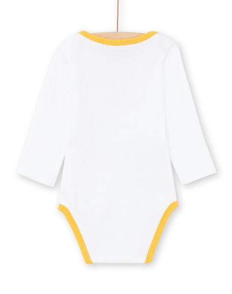 Body bianco e giallo a righe neonato MEGABODHIP / 21WH14B6BDL000