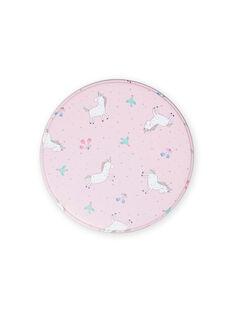 Portamerenda in metallo rosa motivi unicorni bambina MYACLABOI / 21WI01G1D5OC205