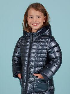 Piumino blu metallizzato bambina MALONDOUN2 / 21W90162D3E070