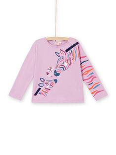T-shirt glicine con stampa zebre in cotone LABLETEE1 / 21S901J2TML320