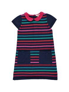 Girls' cotton knit dress DATRIROB3 / 18W901D4ROB099